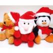 Plüsch Teddy, Santa oder Pinguin XL 8x6,5x5cm